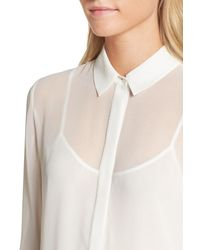 Trouvé - White Layered Blouse - Lyst