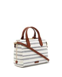 Fossil - Blue Fiona Multi-stripe Satchel - Lyst
