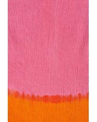 Steve Madden - Pink Dip Dye Fringe Edge Scarf - Lyst
