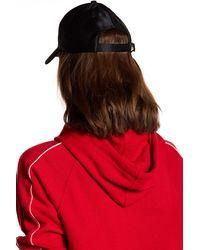 Steve Madden - Black Satin Baseball Cap - Lyst