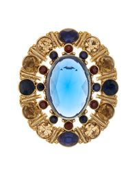 Carolee - Blue Multi-stone Cluster Brooch - Lyst