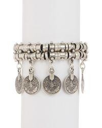 TMRW STUDIO - Metallic Double Row Charm Bracelet - Lyst