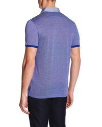 Ted Baker - Blue Leeds Pique Knit Polo Shirt for Men - Lyst
