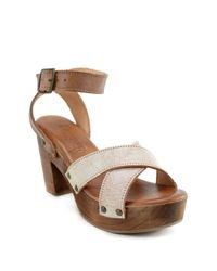 Bed Stu - Brown Kalah Platform Sandal - Lyst