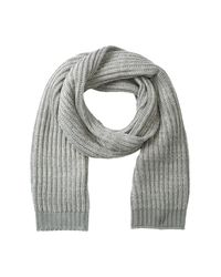 Bickley + Mitchell - Gray Marled Knit Scarf for Men - Lyst