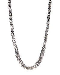 Liberty | Metallic Stainless Steel Byzantine Necklace | Lyst