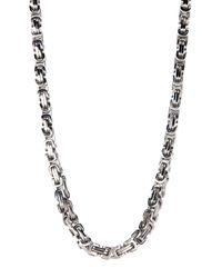 Liberty - Metallic Stainless Steel Byzantine Necklace - Lyst
