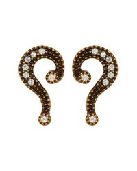 Marc Jacobs | Metallic Question Mark Mismatched Stud Earrings | Lyst