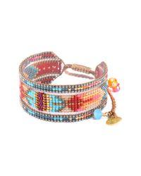 Mishky | Multicolor Melange Beaded Cuff Bracelet | Lyst