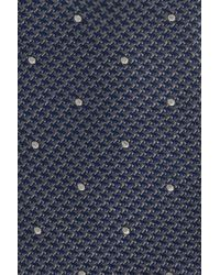 Calibrate - Blue Houndstooth Dot Silk Tie for Men - Lyst