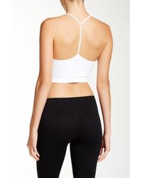 Nikibiki - White Skinny Y-strap Back Bralette - Lyst