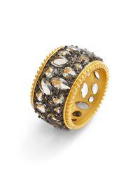 Freida Rothman - Metallic Cz Cutout Cigar Band Ring - Lyst