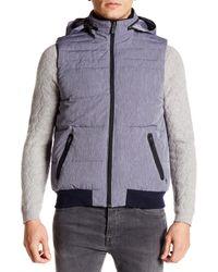 Original Penguin   Multicolor Reversible Fleece Lined Vest for Men   Lyst