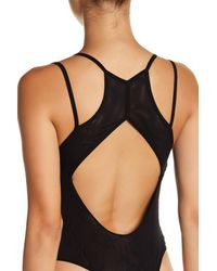 Free People | Black Kisses On My Cheeks Bodysuit | Lyst
