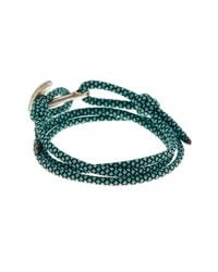 Link Up - Blue Teal Nylon Paracord Anchor Wrap Bracelet for Men - Lyst