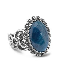 Relios - Metallic Sterling Silver Scallop Border Apatite Ring - Lyst