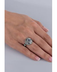 Carolyn Pollack - Blue Sterling Silver Sapphire Filigree Round Ring - Lyst