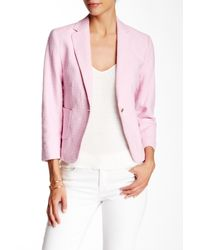 Cece by Cynthia Steffe - Pink Basket Weave Textured Knit Jacket - Lyst