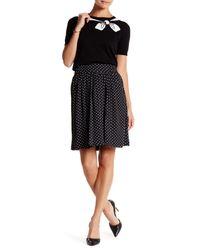 Cece by Cynthia Steffe | Black Polka Dot Printed Skirt | Lyst