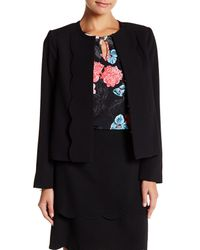 Cece by Cynthia Steffe | Black Scalloped Collarless Jacket | Lyst
