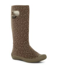 Bogs - Brown Summit Knit Faux Fur Lined Waterproof Boot - Lyst