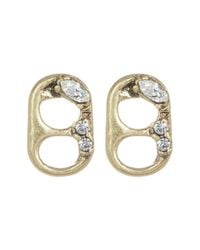 Marc Jacobs - Metallic Mini Strass Soda Lid Stud Earrings - Lyst