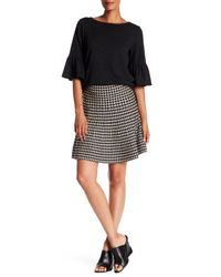 Max Studio | Black Houndstooth Sweater Skirt | Lyst