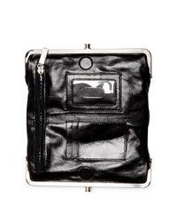 Hobo | Black Lauren Embossed Leather Wallet | Lyst