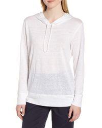 Nordstrom - White Knit Linen Hoodie - Lyst