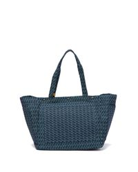 Lucky Brand - Blue Tyna Suede Trimmed Tote - Lyst