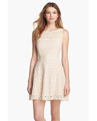 BB Dakota - White 'Renley' Lace Fit & Flare Dress (Nordstrom Exclusive) - Lyst