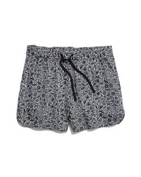 Madewell - Blue Print Drapey Pull-on Shorts - Lyst