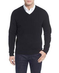 John W. Nordstrom - Black John W. Nordstrom Cashmere V-neck Sweater for Men - Lyst