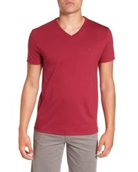 Lacoste - Red Pima Cotton T-shirt for Men - Lyst