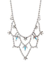 Sorrelli - Multicolor Interlacing Crystal Navette Necklace - Lyst