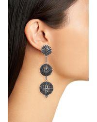 Tasha - Multicolor Crystal Ball Drop Earrings - Lyst