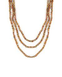 Splendid - Metallic 5-6mm Cultured Freshwater Pearl Endless Necklace - Lyst
