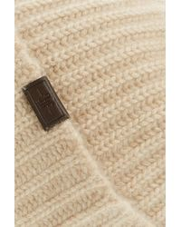 Hickey Freeman - Natural Cuffed Cashmere Beanie - Lyst