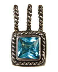 Lori Bonn - Blue March Cz Birthstone Pendant - Lyst