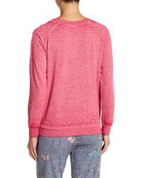 Honeydew Intimates - Pink Undrest Raglan Sweatshirt - Lyst