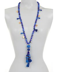 Kate Spade - Blue Pretty Poms Tassel Necklace - Lyst