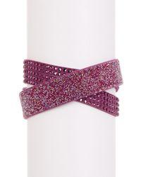 Swarovski - Purple Slake Crystal Wrap Bracelet - Lyst