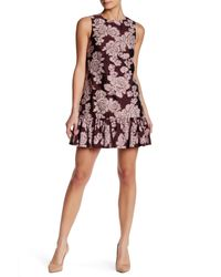 Cynthia Rowley | Pink Floral Sleeveless A-line Dress | Lyst