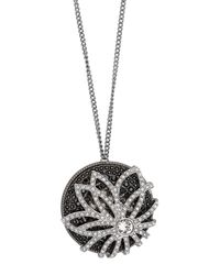 Swarovski - Multicolor Dove Crystal Accented Flower Pendant Necklace - Lyst