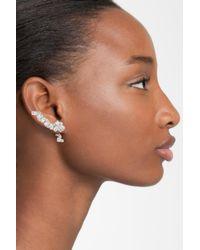 CZ by Kenneth Jay Lane   Multicolor Cz Drop Back Linear Stud Earrings   Lyst