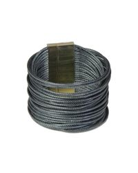 Saachi - Multicolor Gunmetal Multi-cord Bracelet - Lyst