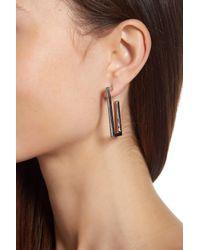 Vince Camuto - Multicolor Angular 38mm Hoop Earrings - Lyst