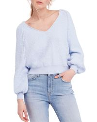 Free People - Blue Found My Friend Sweater - Lyst