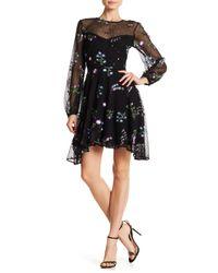 Zac Zac Posen - Black Jennifer Embroidered Floral Print Dress - Lyst