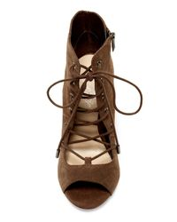 Fergie - Brown Riviera Open Toe Bootie - Lyst